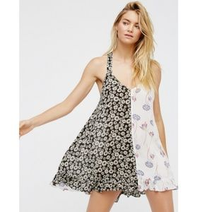 Free People Intimately Mixed Floral Print Dress S